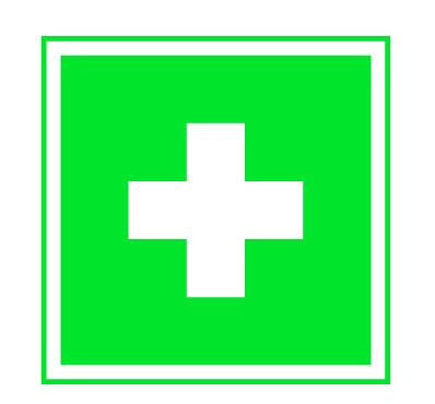 Rettungszeichen Erste Hilfe 52 x 52 mm