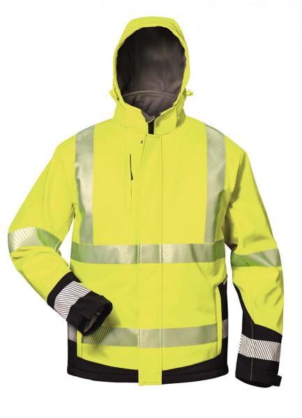 Warnschutz-Winter Softshell Jacke mit Kapuze